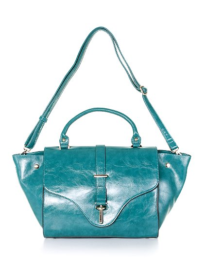meliebiancoのJody(Teal)/海外ファッション好きにオススメのインポートバッグとかばん、MelieBianco(メリービアンコ)のバッグやハンドバッグ。クラシカルなデザインがとても可愛いハンドバッグ。堅めで光沢のある素材を使用し、アンティーク風に仕上げてあります。/main-5