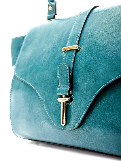 meliebiancoのJody(Teal)/海外ファッション好きにオススメのインポートバッグとかばん、MelieBianco(メリービアンコ)のバッグやハンドバッグ。クラシカルなデザインがとても可愛いハンドバッグ。堅めで光沢のある素材を使用し、アンティーク風に仕上げてあります。/main-6