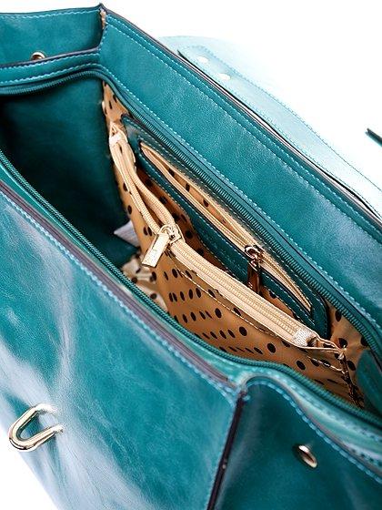 meliebiancoのJody(Teal)/海外ファッション好きにオススメのインポートバッグとかばん、MelieBianco(メリービアンコ)のバッグやハンドバッグ。クラシカルなデザインがとても可愛いハンドバッグ。堅めで光沢のある素材を使用し、アンティーク風に仕上げてあります。/main-7