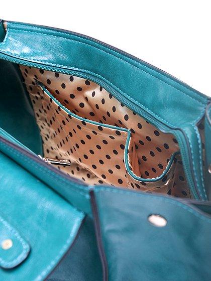 meliebiancoのJody(Teal)/海外ファッション好きにオススメのインポートバッグとかばん、MelieBianco(メリービアンコ)のバッグやハンドバッグ。クラシカルなデザインがとても可愛いハンドバッグ。堅めで光沢のある素材を使用し、アンティーク風に仕上げてあります。/main-8