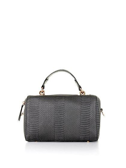meliebiancoのEstera(Black)/海外ファッション好きにオススメのインポートバッグとかばん、MelieBianco(メリービアンコ)のバッグやハンドバッグ。リザードの型押しが特徴のバッグです。中に物を入れなくてもしっかりと四角い形をキープします。