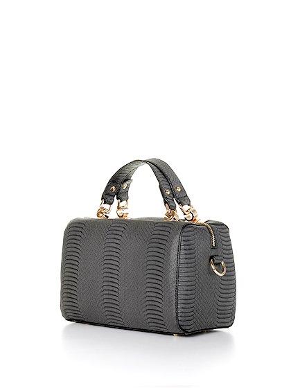 meliebiancoのEstera(Black)/海外ファッション好きにオススメのインポートバッグとかばん、MelieBianco(メリービアンコ)のバッグやハンドバッグ。リザードの型押しが特徴のバッグです。中に物を入れなくてもしっかりと四角い形をキープします。/main-1