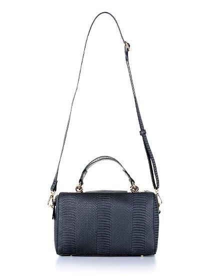 meliebiancoのEstera(Black)/海外ファッション好きにオススメのインポートバッグとかばん、MelieBianco(メリービアンコ)のバッグやハンドバッグ。リザードの型押しが特徴のバッグです。中に物を入れなくてもしっかりと四角い形をキープします。/main-4