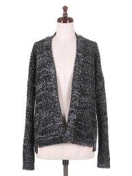 海外ファッションや大人カジュアルにオススメなインポートセレクトアイテムSpain直輸入のBlack Mix Knitted Cardigan