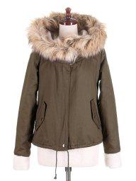 海外ファッションや大人カジュアルに最適なインポートセレクトアイテムのHooded Mods Coat (Olive)