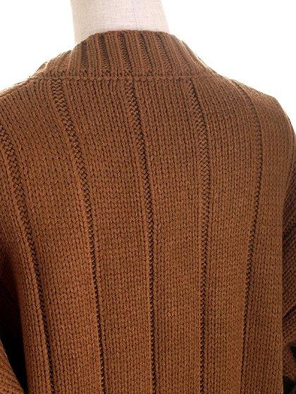 CableKnitCardigan(Brown)大人カジュアルに最適な海外ファッションのothers(その他インポートアイテム)のアウターやカーディガン。着回しが楽なシンプルカーデ。1枚あるととても便利なカーディガンです。/main-7