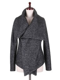 海外ファッションや大人カジュアルに最適なインポートセレクトアイテムのTurndown Collar Short Jacket