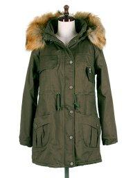 海外ファッションや大人カジュアルに最適なインポートセレクトアイテムのFur Trimmed Mods Coat