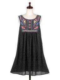 海外ファッションや大人カジュアルのためのFlying Tomato(フライングトマト)のAztec embroidered Mini Dress