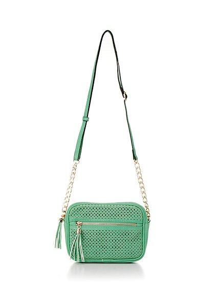 meliebiancoのLucia(Mint)/海外ファッション好きにオススメのインポートバッグとかばん、MelieBianco(メリービアンコ)のバッグやショルダーバッグ。ちょっとしたお出かけにピッタリサイズのミニポーチ。お財布(*1)とスマホだけ持って行きたい時などに重宝しそうです。