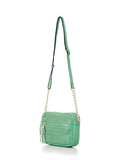 meliebiancoのLucia(Mint)/海外ファッション好きにオススメのインポートバッグとかばん、MelieBianco(メリービアンコ)のバッグやショルダーバッグ。ちょっとしたお出かけにピッタリサイズのミニポーチ。お財布(*1)とスマホだけ持って行きたい時などに重宝しそうです。/main-1