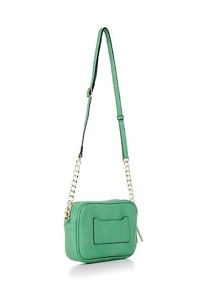 meliebiancoのLucia(Mint)/海外ファッション好きにオススメのインポートバッグとかばん、MelieBianco(メリービアンコ)のバッグやショルダーバッグ。ちょっとしたお出かけにピッタリサイズのミニポーチ。お財布(*1)とスマホだけ持って行きたい時などに重宝しそうです。/main-2