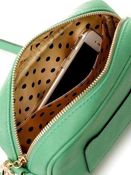 meliebiancoのLucia(Mint)/海外ファッション好きにオススメのインポートバッグとかばん、MelieBianco(メリービアンコ)のバッグやショルダーバッグ。ちょっとしたお出かけにピッタリサイズのミニポーチ。お財布(*1)とスマホだけ持って行きたい時などに重宝しそうです。/main-7