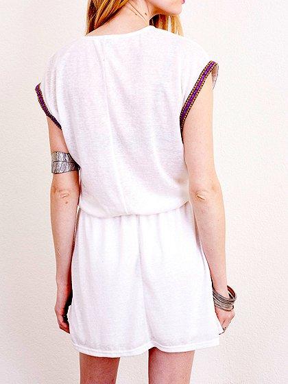 L.A.直輸入のEmbroideredBohoShirtDress大人カジュアルに最適な海外ファッションのothers(その他インポートアイテム)のワンピースやミニワンピース。Tシャツ素材のお手軽ワンピース。Boho風のアズテック柄の刺繍が可愛いアイテムです。/main-14