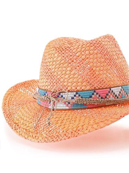 WesternHatEnzo(flamingo)大人カジュアルに最適な海外ファッションのothers(その他インポートアイテム)のハット&キャップや。コンパクトなブリム(ツバ)のウエスタンハット。テンガロンハットは可愛いけどちょっと派手かな?と言う皆さんにも抵抗なく楽しんで頂けるデザインです。/main-7