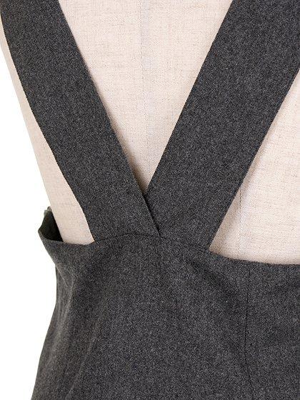 FreePeopleのGemma'sFavoriteDress/世界中のセレブファッション好きに大人気のFreePeople(フリーピープル)のワンピースやミニワンピース。何とも可愛らしいジャンパースカートがフリーピープルから入荷しました。着まわしが利くグレーをチョイスしました。/main-10
