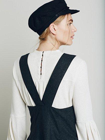 FreePeopleのGemma'sFavoriteDress/世界中のセレブファッション好きに大人気のFreePeople(フリーピープル)のワンピースやミニワンピース。何とも可愛らしいジャンパースカートがフリーピープルから入荷しました。着まわしが利くグレーをチョイスしました。/main-18