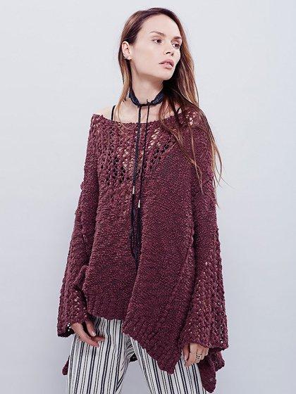 FreePeopleのPrettyPointelleVee(Rose)/世界中のセレブファッション好きに大人気のFreePeople(フリーピープル)のトップスやニット・セーター。毎年人気のオーバーサイズドニット。スキニーボトムやゆったりシルエットのスカートなど、ボトムを問わず合わせられます。/main-15