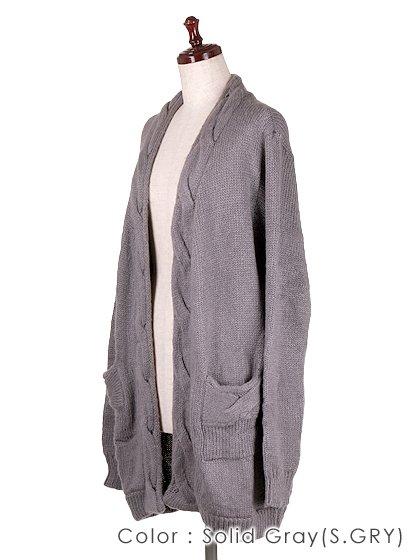 roomIVYのAmyJKT/ビーチでのリゾートファッションブランド、roomIVY(ルームアイビー)のアウターや。大人気だったケーブルニットのAmyがカーデになって登場しました。身頃に沿ったケーブル編みがポケットにも施されています。/main-27