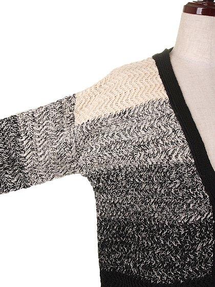 L.A.直輸入のOmbreMarledCardigan大人カジュアルに最適な海外ファッションのothers(その他インポートアイテム)のアウターやカーディガン。段々になったグラデーションのカーディガン。ナチュラルな生成りからブラックへのグラデーションです。/main-5