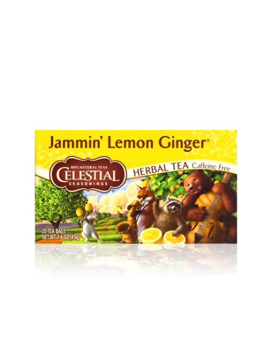 Celestial SeasoningsのJammin' Lemon Ginger  ジャミンレモンジンジャー