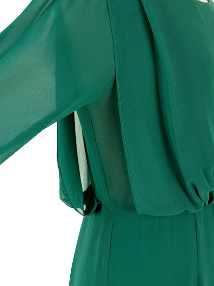 ORIONLONDONのLovieDress(Green)/大人のためのカジュアルブランド、ORIONLONDON(オリオンロンドン)のワンピースやミディワンピース。シックで都会的な大人感が漂うワンピース。パーティーやお呼ばれの時には一際目を引くドレスです。/main-10