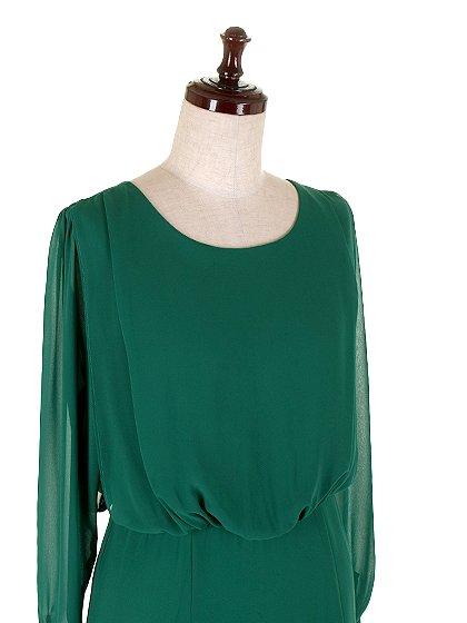 ORIONLONDONのLovieDress(Green)/大人のためのカジュアルブランド、ORIONLONDON(オリオンロンドン)のワンピースやミディワンピース。シックで都会的な大人感が漂うワンピース。パーティーやお呼ばれの時には一際目を引くドレスです。/main-6