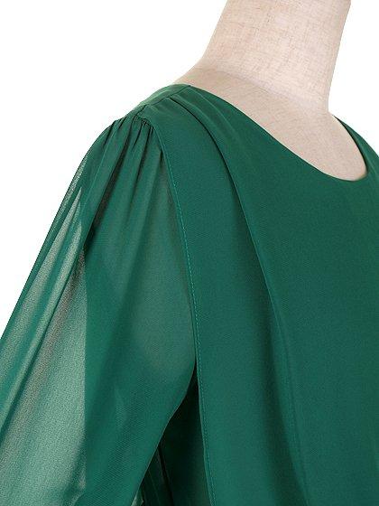 ORIONLONDONのLovieDress(Green)/大人のためのカジュアルブランド、ORIONLONDON(オリオンロンドン)のワンピースやミディワンピース。シックで都会的な大人感が漂うワンピース。パーティーやお呼ばれの時には一際目を引くドレスです。/main-9