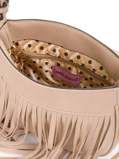 meliebiancoのWinnie(Nude)/海外ファッション好きにオススメのインポートバッグとかばん、MelieBianco(メリービアンコ)のバッグやショルダーバッグ。小ぶりなボディのショルダーバッグ。2か所から出ていてる長めのフリンジが特徴のアイテムです。/main-7